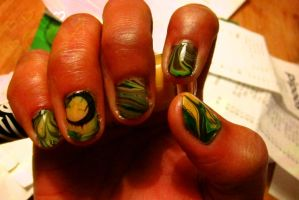 Water Marble Nail Art :) by swapthat