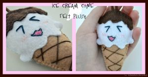 Ice Cream Cone Plush by LelaLullaby