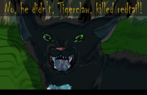Ravenpaw,witness the death of redtail by danituco