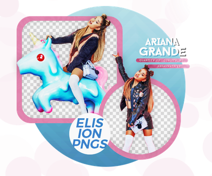 PACK PNG 142 // ARIANA GRANDE by ELISION-PNGS