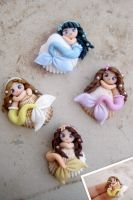 mermaids on shells by LisaCreations by LisaCreations