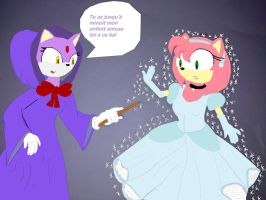 Amy Rose is cendrella Amy  Rose est cendrillon by Spikinette