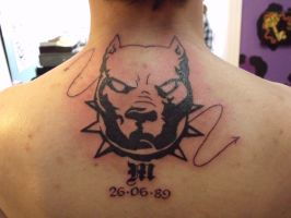 Tribal hell hound with date by IAteAllMyPaste