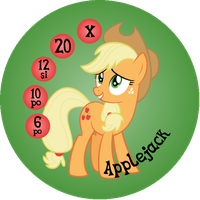 Button Ponies Applejack Game Button by Loaded--Dice
