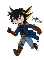 Cartoon doodle Yusei Fudo by roseannepage