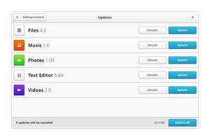 Gnome App Sketches: Software Updates View by spiceofdesign