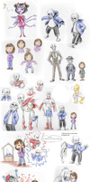 Undertale sketch dump by the-Adventurer-0815