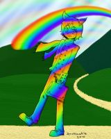 We walk on rainbows :P by hAppi-IN-A-poNcho