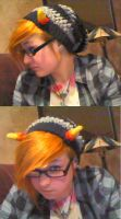 Karkat Homestuck Crochet Hat by zombiesandunicorns