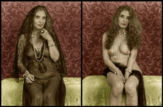 Mourning Portrait Diptych by mjbw39
