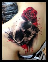 skull tattoo by sofsmade