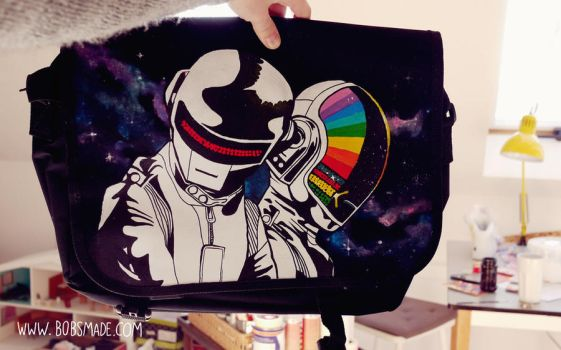Daft Punk Messenger Bag by Bobsmade