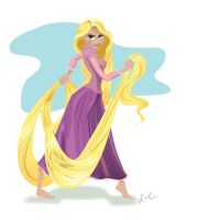 Disney's Rapunzel Illustration by liliribs