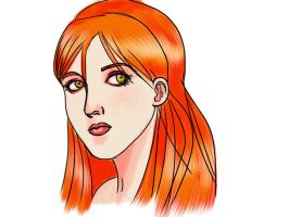 Redhead girl _a by victter-le-fou