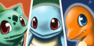 starter pokemon by Crimsonlily434