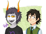 Gamzee and Once-ler by RezusError