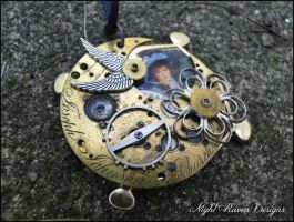 Clockwork Angel Pendant by TheClockworkCrow