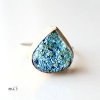 Druzy Sterling Silver Ring. Free Shipping by IoannaEvans