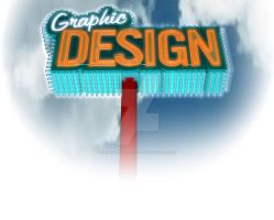 Graphic Design Signage Neon Sign by mental-awareness