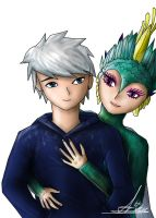 Jack Frost and Tooth by NiGHTSgirl666