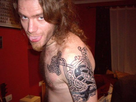 My viking-celtic tattoo by catfromhell