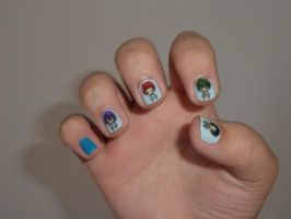Right hand - Kuroko no Basuke nails by Mika-chan1102