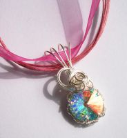"""Pink Ice"" Pendant by DownToTheWire"