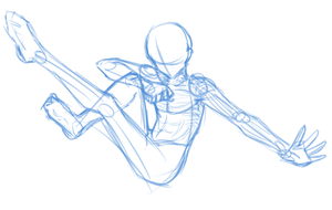 Base -Male dynamic pose by hermengarde