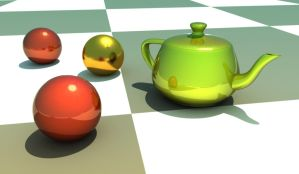 teapot and spheres by sav8197