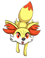 Fennekin by Fishlover