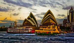 Ferry Crossing at Opera House by addr010