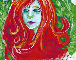 painted poison ivy by cnick55