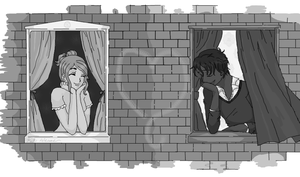 Romeo and Juliet in Black and White by Cinnamon-Stix