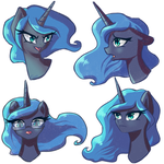Sketch - Luna's emotions by ChaosAngelDesu