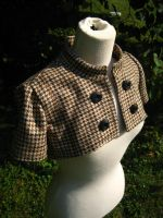 Miss Sherlock Corset Shrug by dreadnoughtdesigns