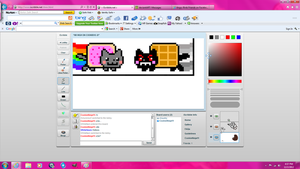 Nyan Cat and Tac Nayn :3 (iscribble) by Radiant-Garnet
