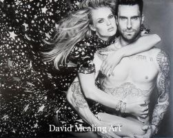 Adam Levine & Anne Vyalitsyna Dm by Drawing-Dude-Dave