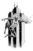 Spidey 2099 pencil/ink by 93Cobra