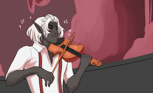 Fiddler in the Fissure by Golly-chan