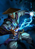 Mortal kombat - Young raiden by cloudintrousers
