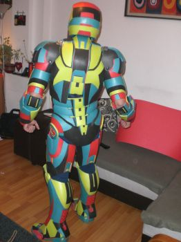 Iron man Mark 3 Harlequin style by AndChi