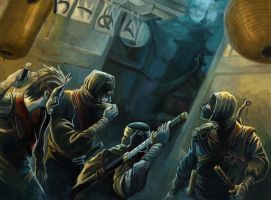 L5R - Ninja Guards by DrStein