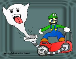 Luigi, Poltergust Riding by Xero-J