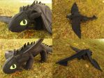 Big Toothless plushie (Tester) by WhimsicalSquidCo