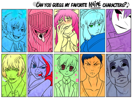 Guess my Favourite Anime Characters by Bhryn