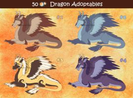 50 Points Dragon Adoptables by Mistrel-Fox