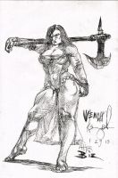 wench concept 033 -after Simon Bisley by KurtBrugel