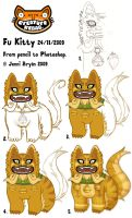 Fu Kitty Stages by creaturekebab