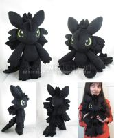 Toothless doll by MagnaStorm