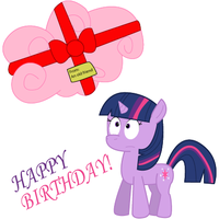 Happy Birthday Filly Twilight by Sonic-chaos